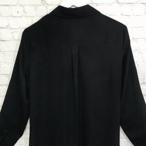 Express Tops - Express The Portofino Shirt Black Button Blouse